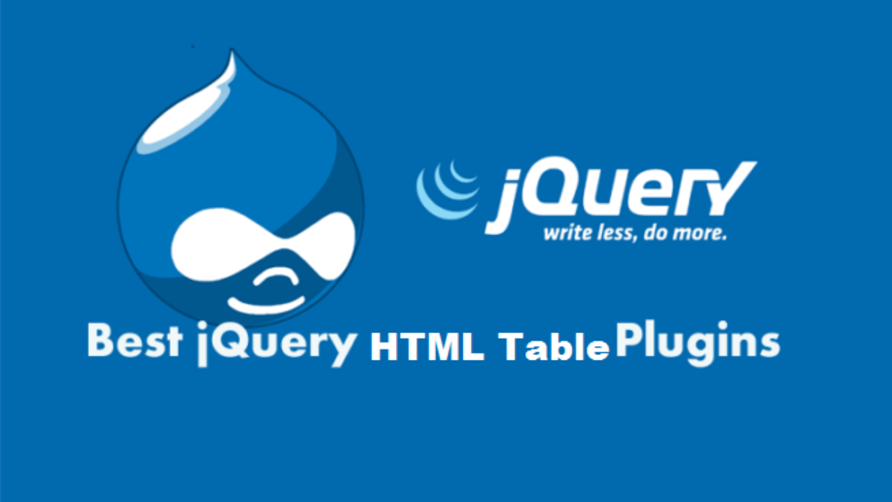 Best Free jQuery Table and Grid Plugins