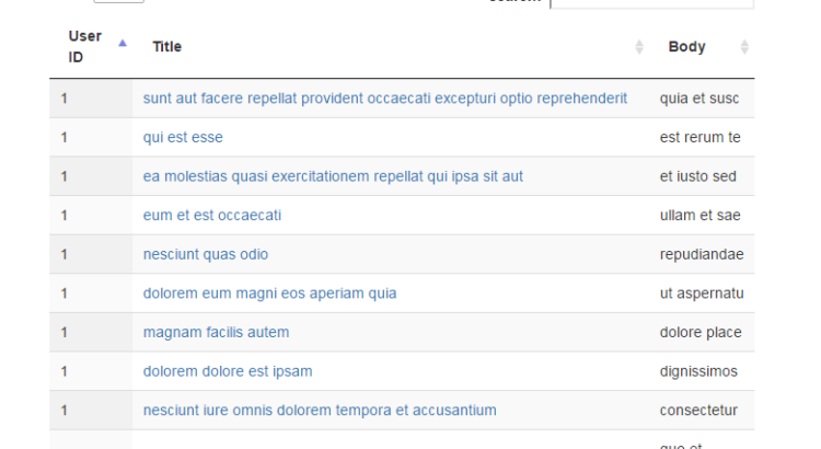 jquery datatable Archives