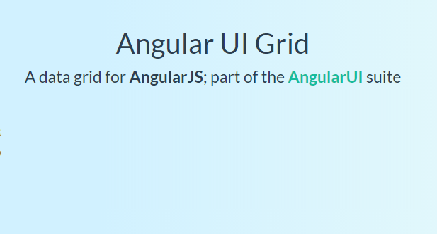 Best Free Angularjs Grid & Table Plugin Examples