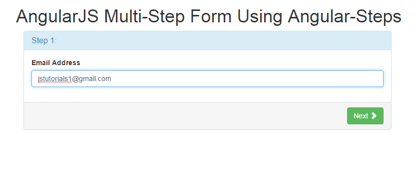 Simple Example and Demo of Multistep form Using Angularjs - JS ...
