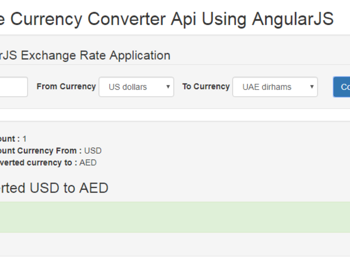 Currency Converter Calculater Using