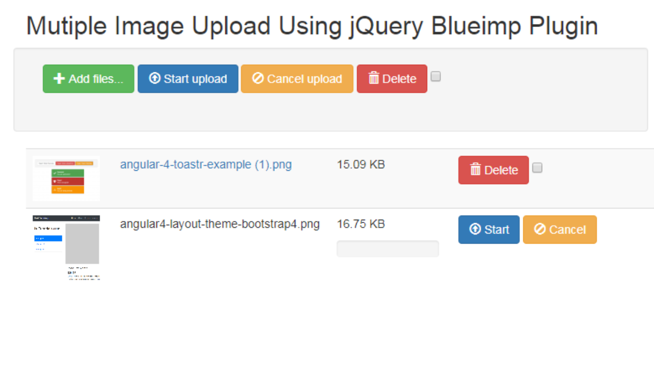 Upload Files and Images Using Blueimp jQuery Plugin