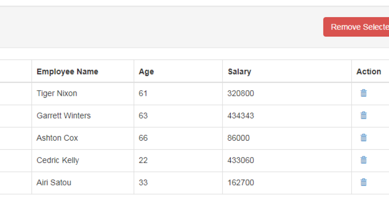 Delete Multiple Records Using AngularJS and Rest API