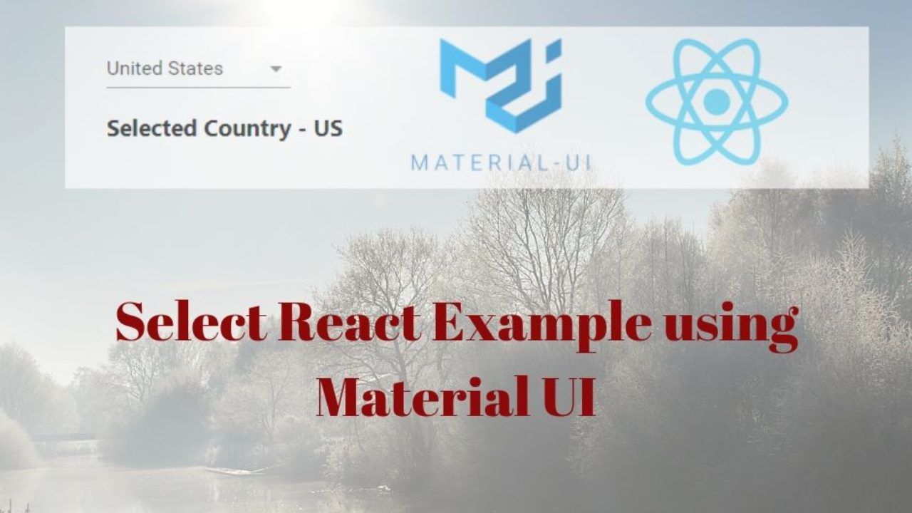 React Select Example Using Material UI | React Material UI